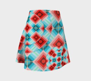 Groovy Argyle Flare Skirt preview