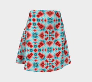 Groovy Argyle Flare Skirt small print preview