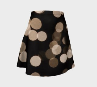 Black and White Bokeh Flare Skirt preview