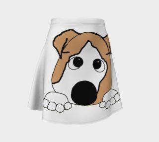 bulldog fawn and white peeking preview