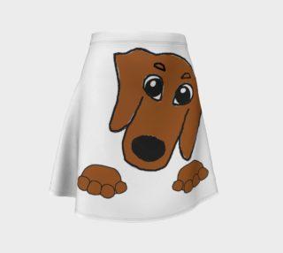 dachshund peeking red preview