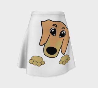 dachshund peeking fawn and tan preview