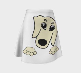 dachshund peeking cream preview