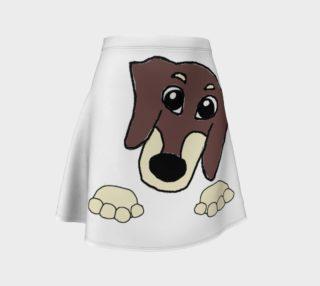 dachshund peeking chocolate and cream preview