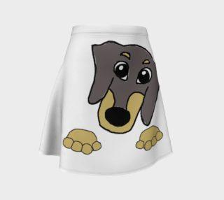 dachshund peeking blue and tan preview