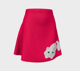 Hot Pink Kitty Cat Flare Skirt aperçu