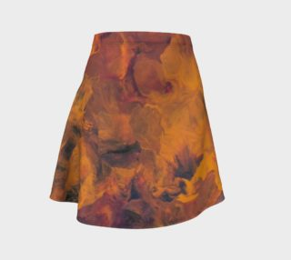 Sunset Flowers Flare Skirt preview