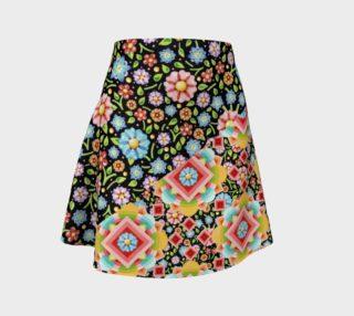 Aperçu de Groovy Chintz Flare Skirt asymmetric