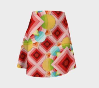 Aperçu de Groovy Carousel Asymmetric Flare Skirt