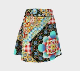 Aperçu de Crazy Patchwork Flare Skirt