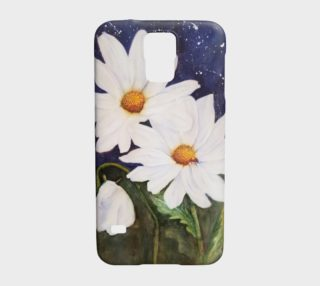 White Daisies with Red Ladybug preview