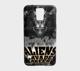 Aliens Invade 4 Beer Galaxy Attack Samsung Galaxy S5 Case preview
