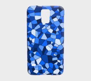 Blue Monochrome Geometric Mosaic Pattern preview