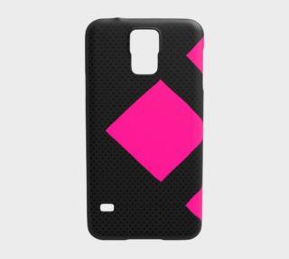 Modern Pink Black Samsung Galaxy5 Case  preview