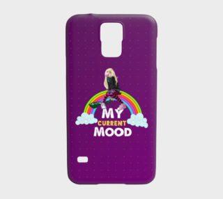 Girl Sitting On Rainbow Gum Samsung Galaxy5 Case  preview