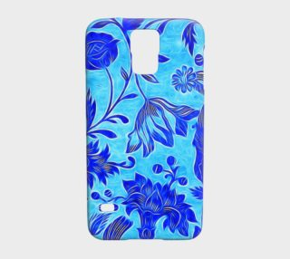 Vibrant Abstract Blue Floral Samsung Galaxy5 Case  preview