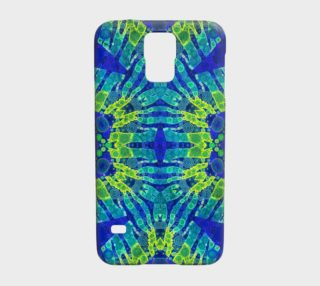 Blue Zebra Abstract Samsung Galaxy5 Case  preview
