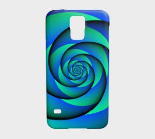 Aperçu de Power Spiral Waves Blue Green