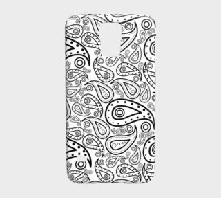 black and white paisley preview