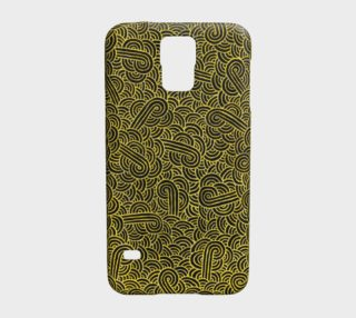 Faux gold and black swirls doodles Galaxy S5 Case preview