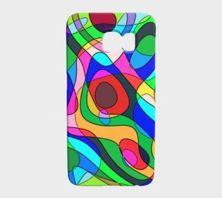Aperçu de Modern POP ART Squiggly Loops multicolored