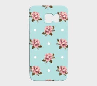 Vintage Roses on Pastel Blue Background preview
