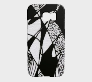 Aperçu de Étuis d'appareils Galaxy S6 Edge Griffe noir et blanc-micheline-plante