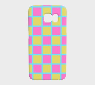 blue pink and yellow checkerboard preview