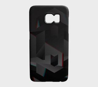 Black Geometric Pattern Galaxy S7 Case  preview
