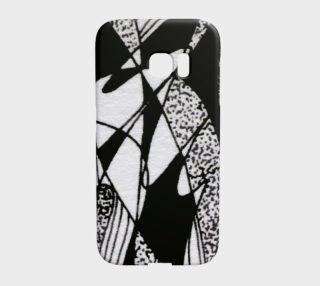 Aperçu de Étui d'appareil Galaxy S7 Edge Griffe noir et blanc-micheline-plante