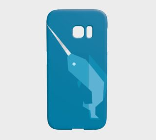 Geometric Narwhal Case - Galaxy S7 Edge preview