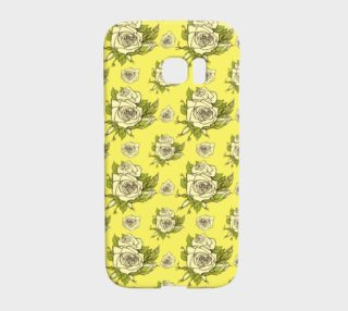 Vintage Roses on Yellow Background preview