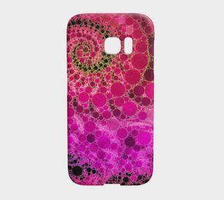 Pink Fractal Bling Samsung Galaxy S7 Edge Case  preview