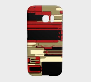Red Tan Retro Pattern Samsung Galaxy S7 Edge Case  preview