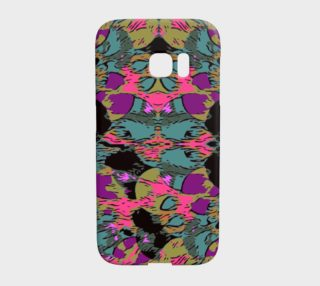 Pink Tourqoise Jungle Print Samsung Galaxy S7 Edge Case  preview