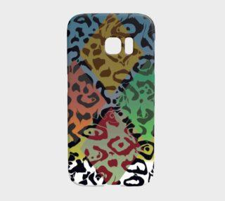 Multicolor Geometric Cheetah Print Samsung Galaxy S7 Edge Case  preview