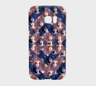 Pink Blue Marilyn Monroe Samsung Galaxy S7 Edge Case  preview