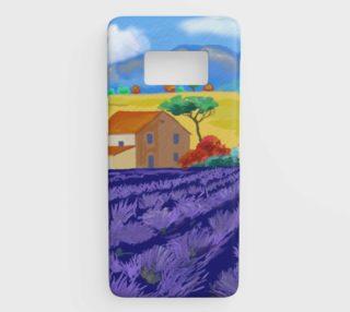 Lavender Farm Samsung Galaxy S8 Phone Case preview