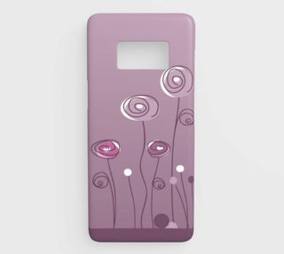 Purple Abstract Flowers Samsung Galaxy S8 Phone Case aperçu