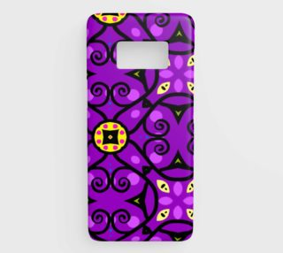 purple and gold samsung galaxy s8 phone case aperçu