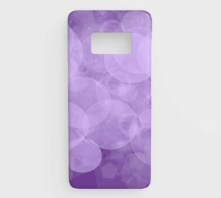 purple bubbles samsung galaxy s8 phone case aperçu
