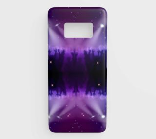 Purple and Blue Burst Samsung Galaxy S8 Phone Case aperçu