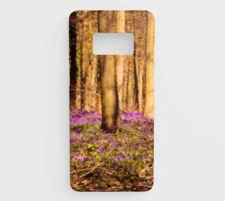 Forest with Purple Flowers Samsung Galaxy S8 Phone Case aperçu