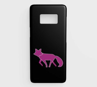 Fox Purple Silhouette Samsung Galaxy S8 Phone Case aperçu
