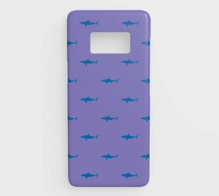 Shark - Blue on Purple preview