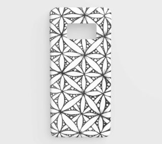 Flower of Life White Galaxy S8 preview