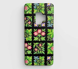 Retor Flowers Samsung Galaxy S9 Case preview
