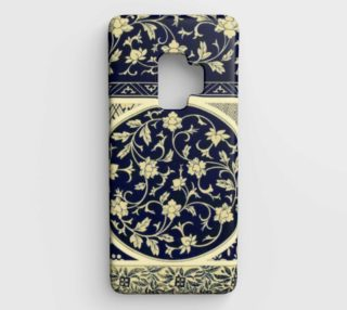 Vintage Navy Blue and Cream Floral preview