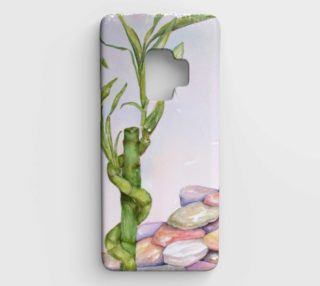 Lucky Bamboo Stalk amid Colorful Rocks preview