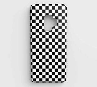 Black White Checker Board Pattern Samsung Galaxy S9 Case preview